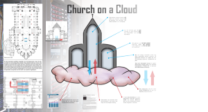 Poster Church on a Cloud
