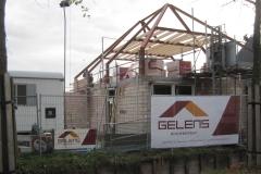 woning in aanbouw voorzijde